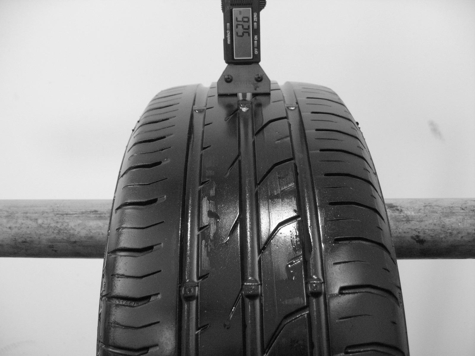 Použité-Pneu-Bazar - 195/60 R15 CONTINENTAL CONTIPREMIUMCONTACT 2 88H -kusovka-rezerva 4mm