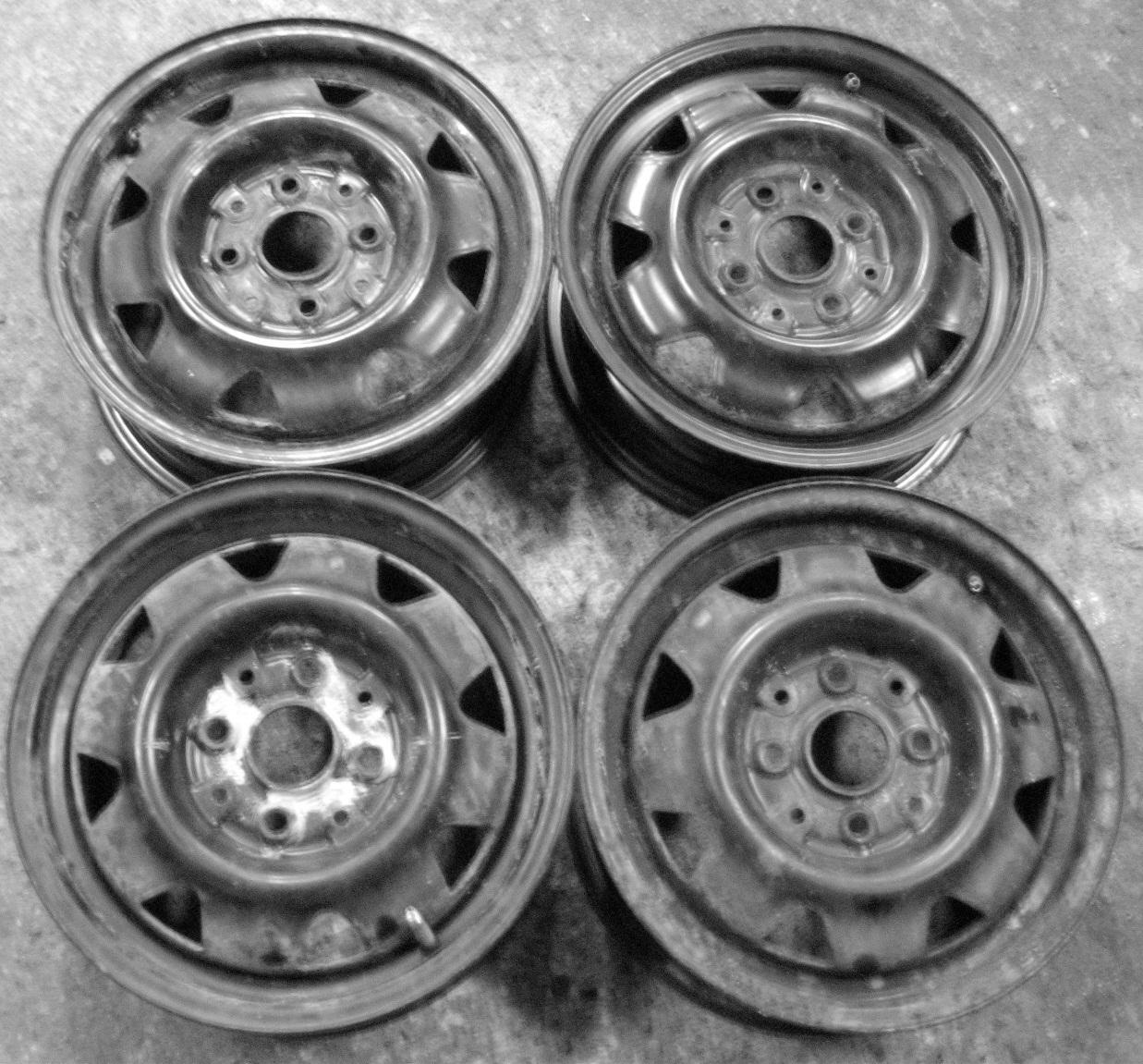 "Plechové-Ocelové-disky-bazar - 14"" Audi 80 4x108 sada"